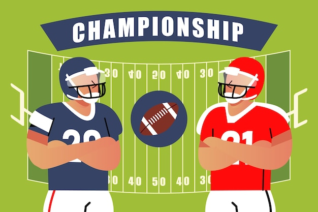 Campeonato de fútbol americano de diferentes equipos.