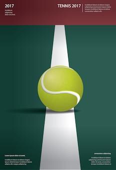 Campeonato de tenis cartel ilustración