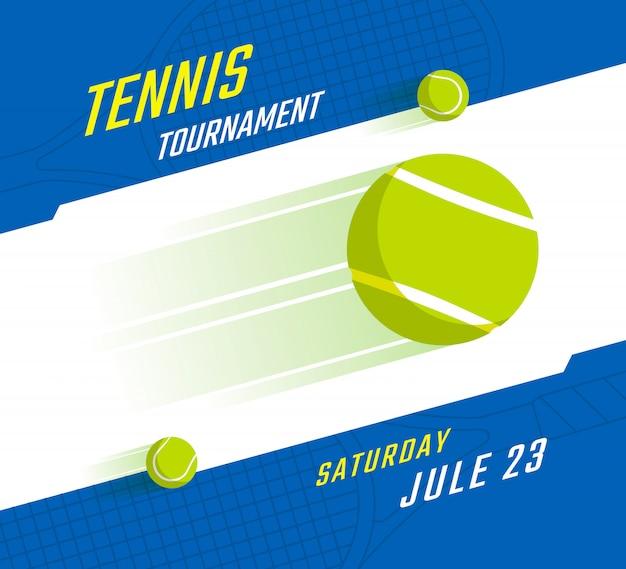 Campeonato de tenis o diseño de carteles de torneos.