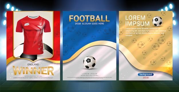 Los campeones son el concepto de ganadores, sport poster template