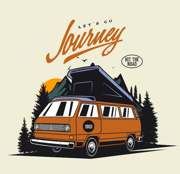 Camper van journey