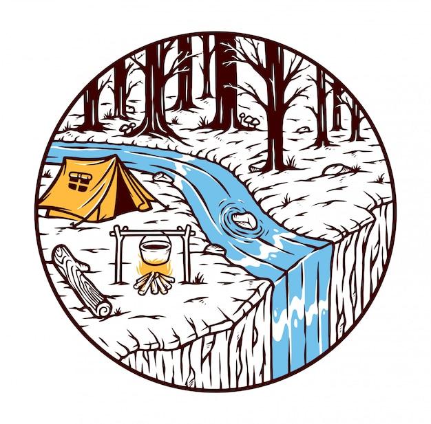 Camping en el bosque