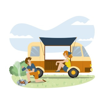 Camping con caravana