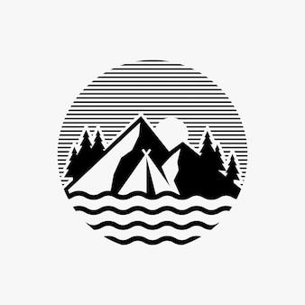 Camping logo inspirado en el diseño.