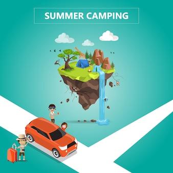 Camping de verano