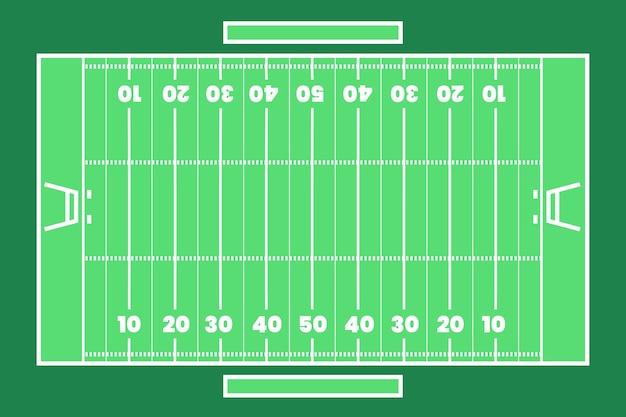 Campo de fútbol americano plano lay