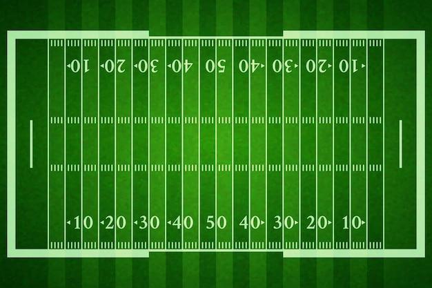 Campo de fútbol americano realista