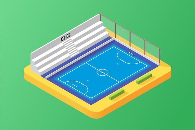 Campo de fútbol sala isométrico