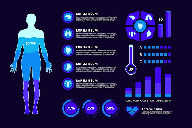 Campo médico de estilo infográfico
