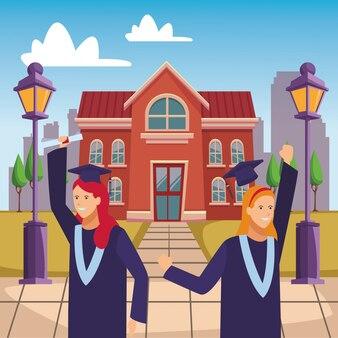 Campus graduación celebración chicas