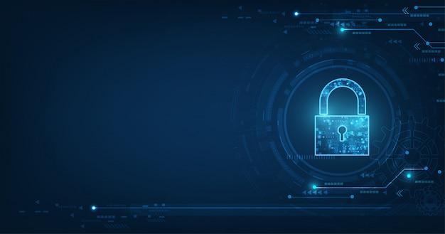 Candado con el icono de ojo de cerradura en seguridad de datos personales ilustra la idea de privacidad de información o datos cibernéticos.