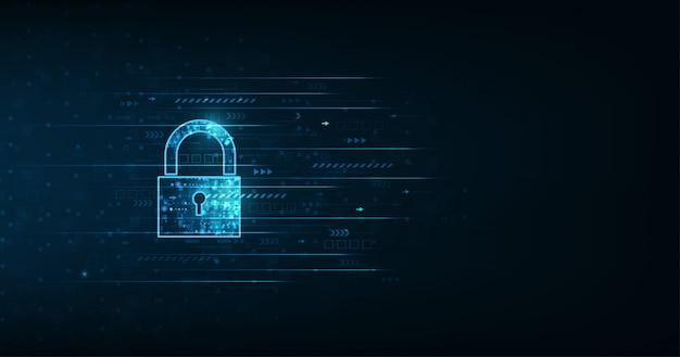 Candado con ojo de cerradura en el fondo de seguridad de datos personales