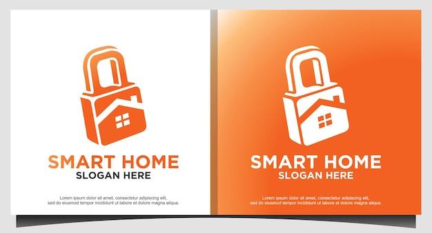 Candado protege el diseño del logotipo de la casa de seguridad