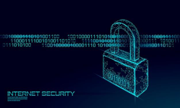 Candado de seguridad cibernética en masa de datos.
