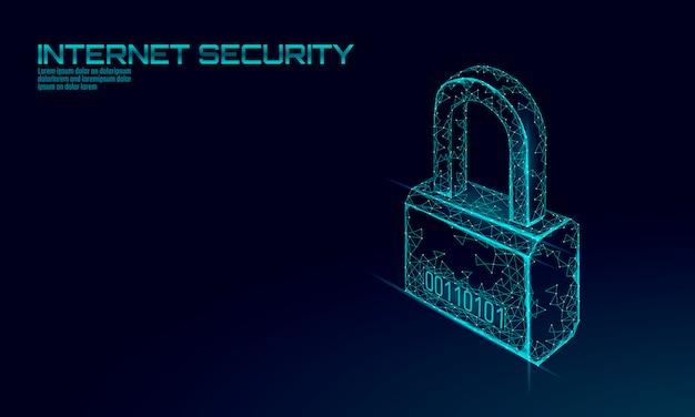 Candado de seguridad cibernética.