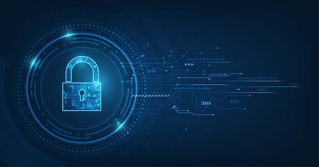 Candado con el símbolo de ojo de cerradura. seguridad de datos personales ilustra la idea de privacidad de información o datos cibernéticos.