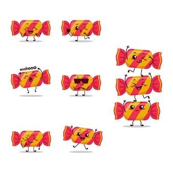Candy mini barra de azúcar chocolate ilustración personaje de dibujos animados