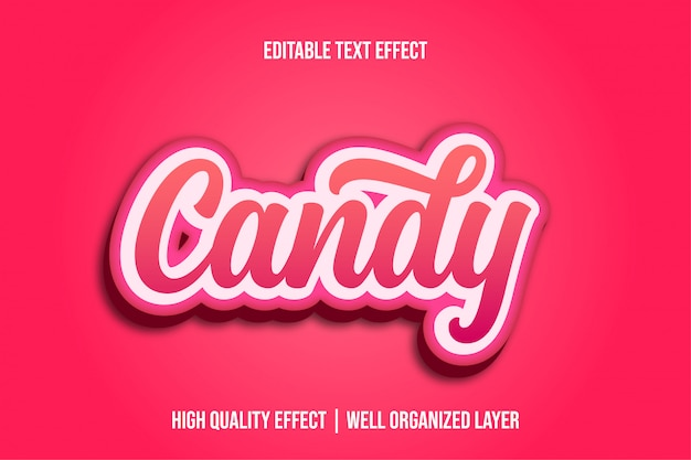 Candy, pinky cute editable text effect style