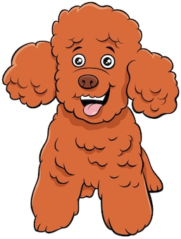 Caniche, juguete, perro, caricatura, animal, carácter