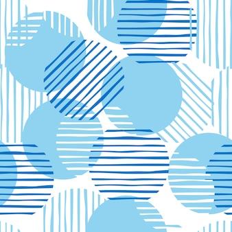 Caótica ilustración de patrones sin fisuras.
