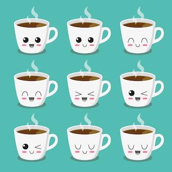 Cap de la colección de personajes de café.