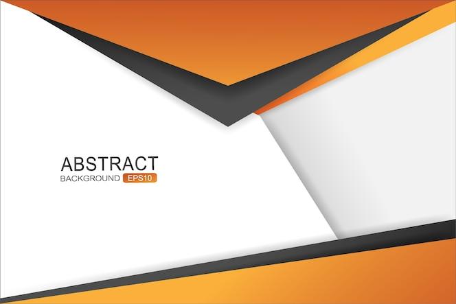 Capa de superposición de fondo de vector triángulo naranja y negro