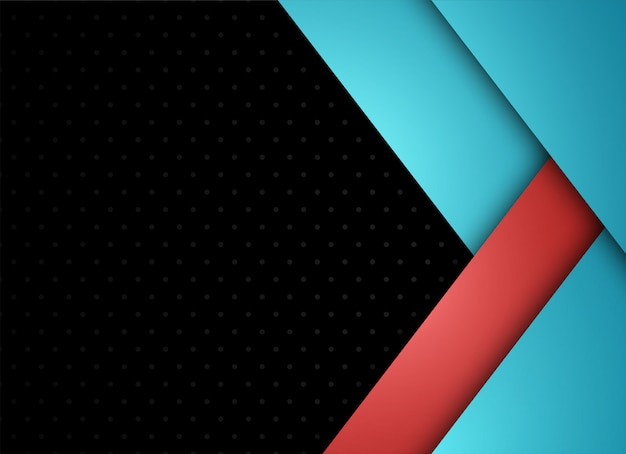 Capa geométrica y superpuesta azul y roja sobre fondo gris