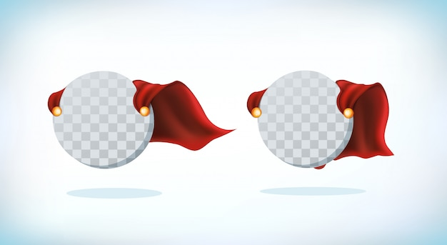 Capa de superhéroe superhéroe cloack. conjunto de ilustración