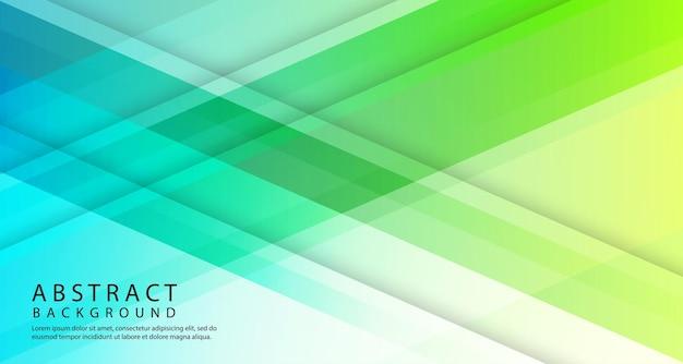 Capa de superposición geométrica 3d abstracta con formas de degradado de colores
