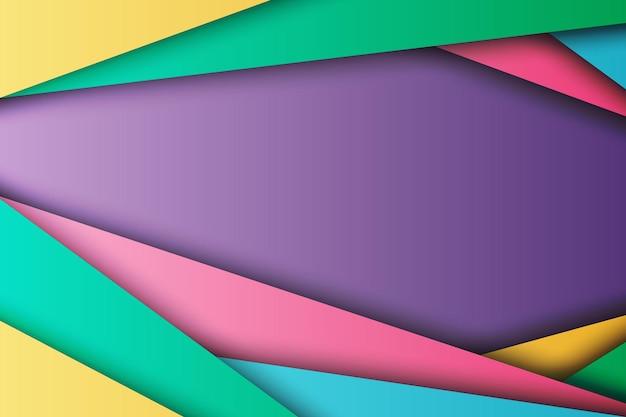 Capa superpuesta de rayas de colores abstractos con fondo de estilo de papel. ilustración vectorial.