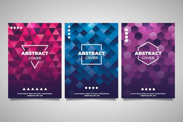 Capas de colección de portadas geométricas abstractas