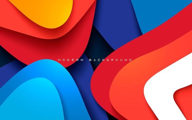 Capas de dimensión de fondo de papercut moderno abstracto