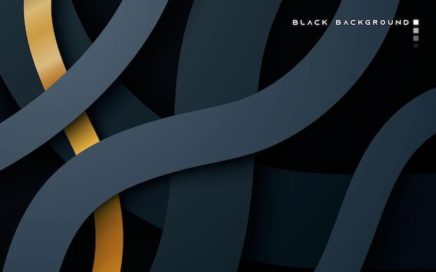 Capas superpuestas de dimensión negra sobre fondo oscuro