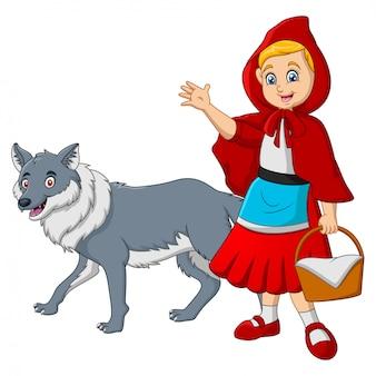 Caperucita roja con lobo