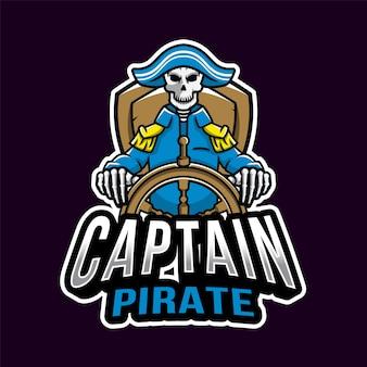 Capitán pirata esport logotipo
