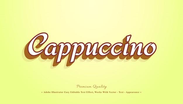 Cappuccino 3d efecto de texto editable fácil
