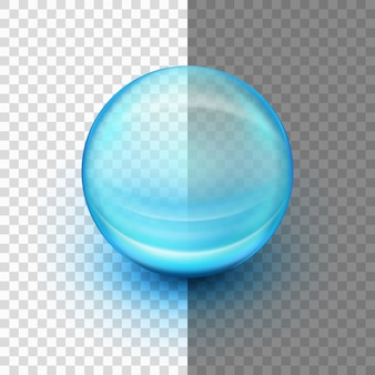 Cápsula de gel suave transparente.