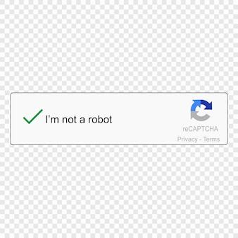 Captcha estoy en un robot.