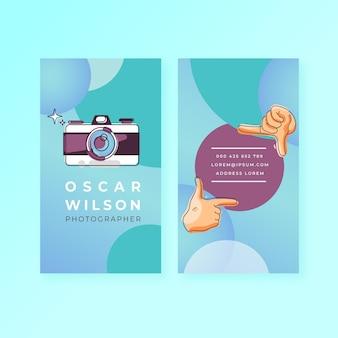 Capture el momento tarjeta de presentación vertical