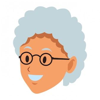 Cara de anciana