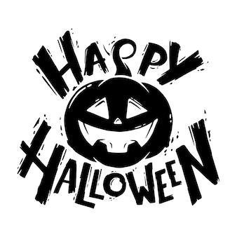 Cara de calabaza de halloween feliz.