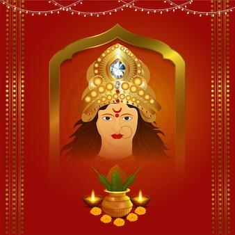 Cara de diosa durga para shubh navratri