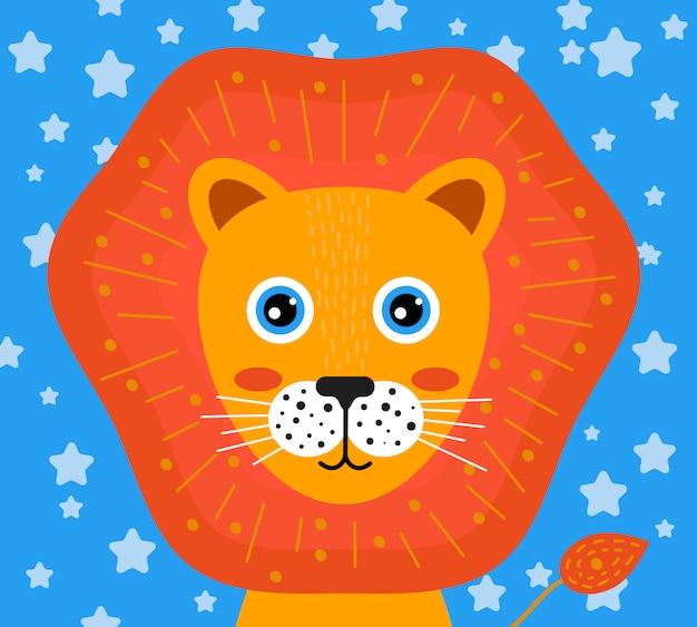 Cara de guardería de león