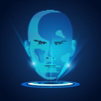 Cara de holograma