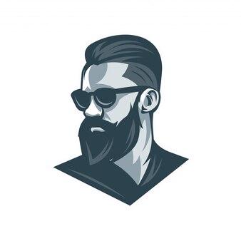 Cara de los hombres barbudos