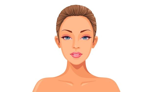Cara de mujer hermosa