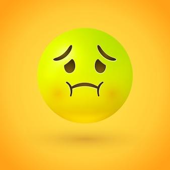 Cara con náuseas emoji enfermo