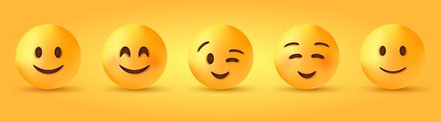 Cara sonriente con ojos sonrientes - personaje emoji ligeramente feliz - emoticon lindo