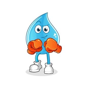 Carácter de boxeador de gota de agua