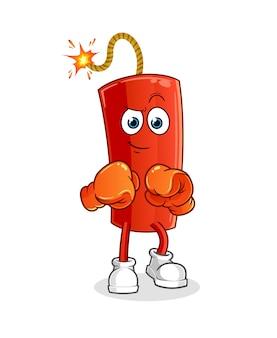 Carácter de boxeador de leche. mascota de dibujos animados